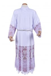 Alb Lace Liturgical JHS 60cm Lining Purplish TU010