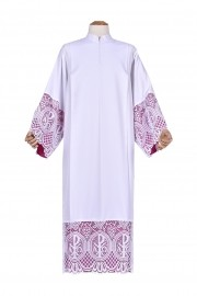 Pleats Liturgical Lace Tunic PX 30cm Lining Violaceous TU023
