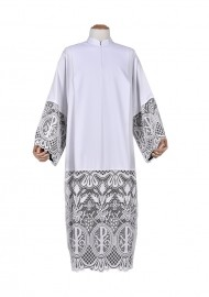 Pleats Liturgical Lace Tunic PX 60 cm Lining Black TU024