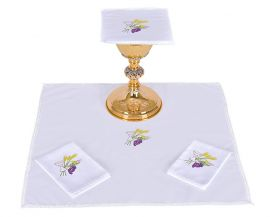Altar Set Cotton Chalice Wheat and Grape B010