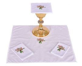 Altar Set Cotton Wheat Cross and Grape B007
