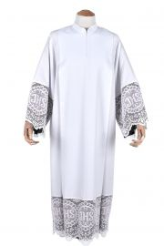 Pleats Liturgical Lace Tunic JHS 30cm Lining Black TU021
