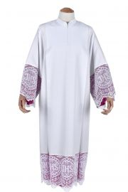 Pleats Liturgical Lace Tunic JHS 30cm Lining Violaceous TU021