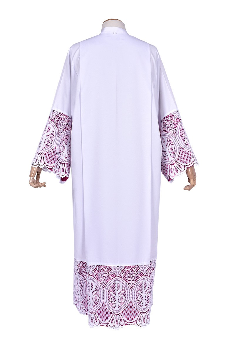 Alb Lace Liturgical PX 30cm Lining Purplish TU023