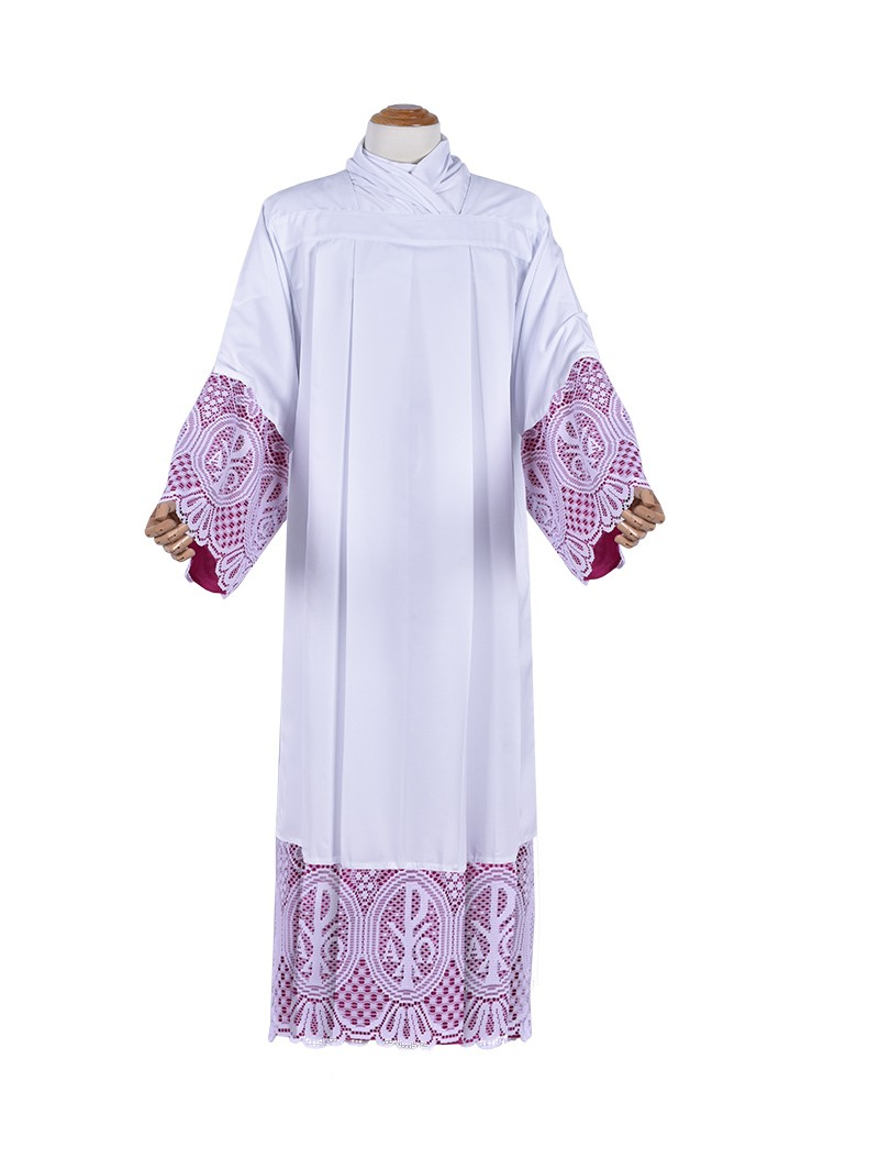 Alb Lace Liturgical PX 30cm Lining Purplish TU026