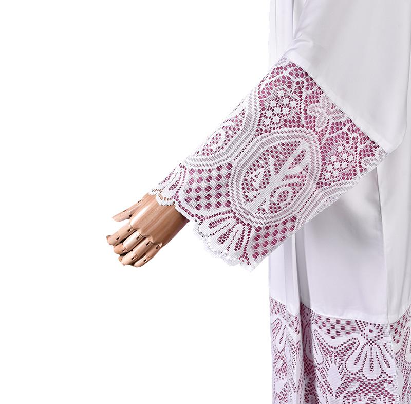 Alb Lace Liturgical PX 60 cm Lining Violaceous TU025