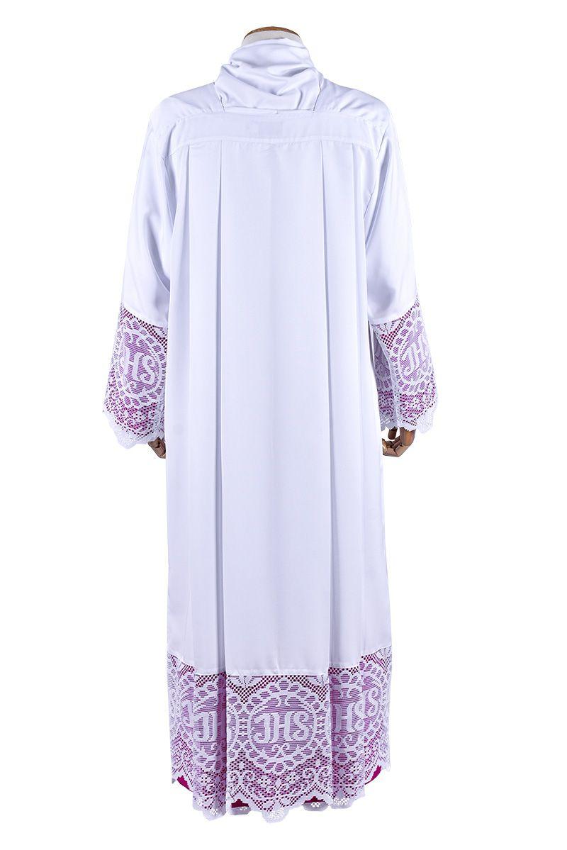 Alb Lace Liturgical  JHS 30 cm Lining Violaceous TU020