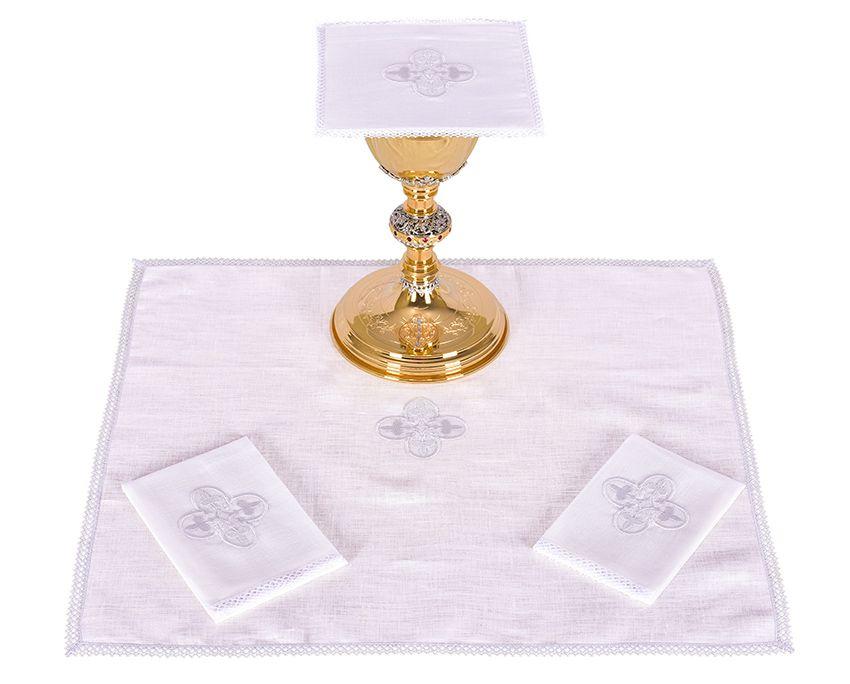 Altar Set Linen Gothic Cross B012