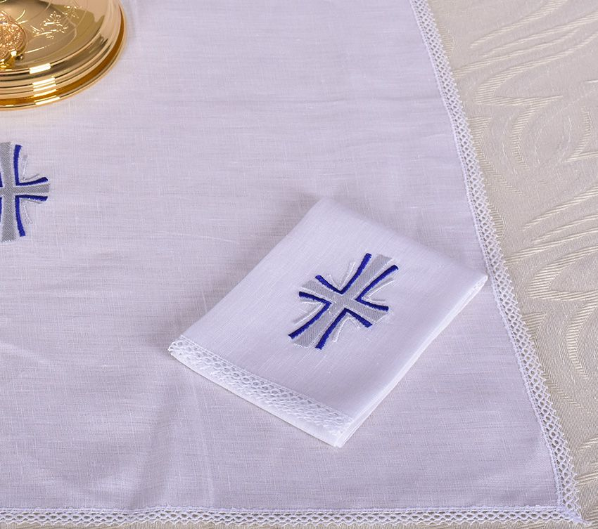 Altar Set Linen Cross B011