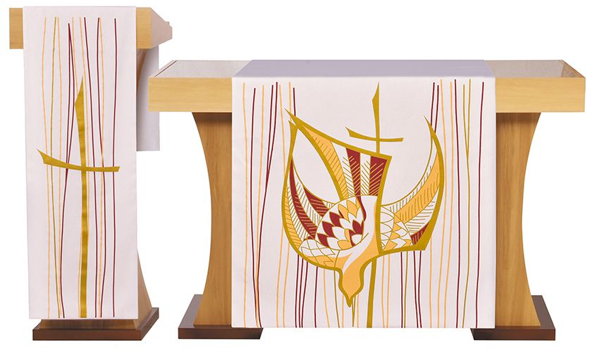 Altar and Pulpit Veils Pentecost Beige S202 S203