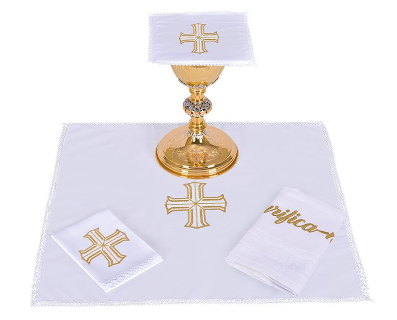 Altar Set Cotton Redeemer Cross CA106