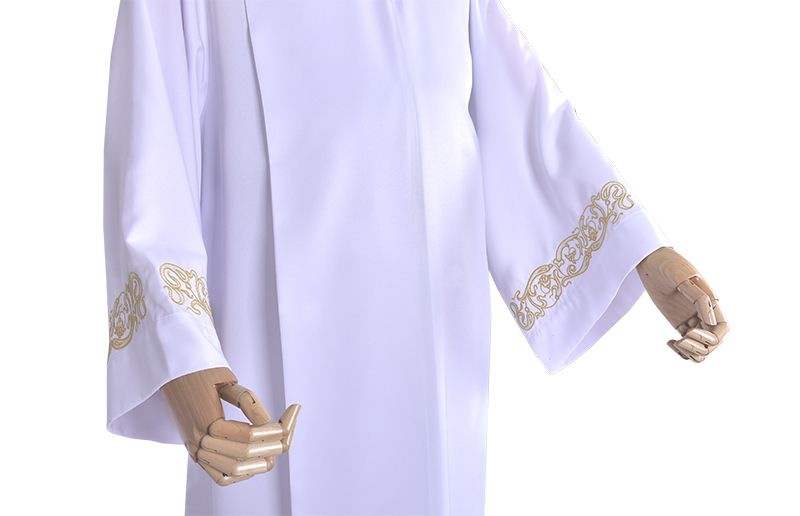 Parchment Tunic Embroidered Pleat TU018