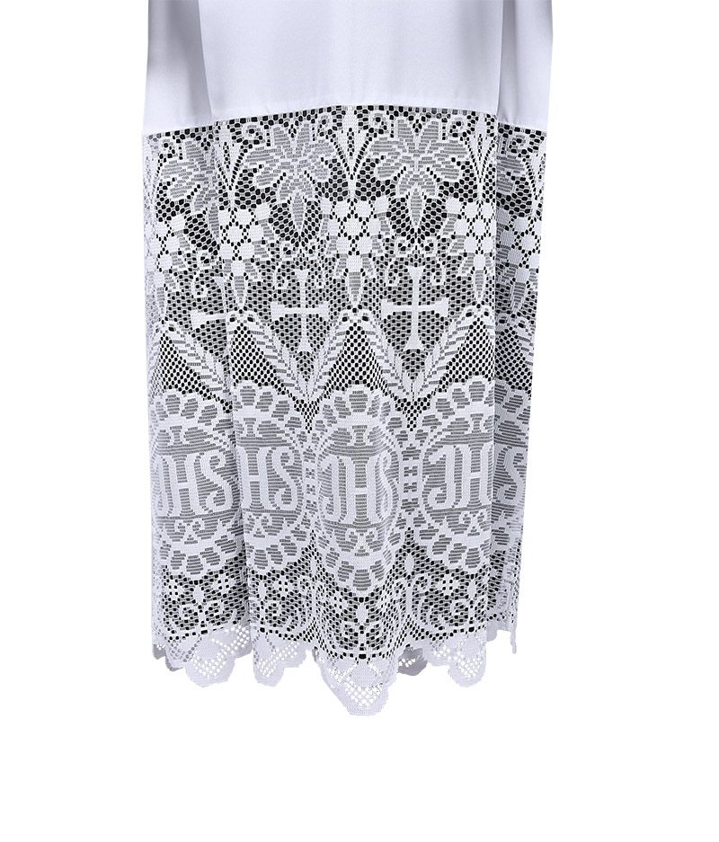 Pleats Liturgical Lace Tunic JHS 60cm Lining Black TU022