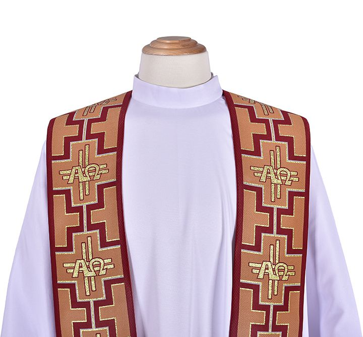 São Geraldo Magela Alfa and Omega Priestly Stole ES048