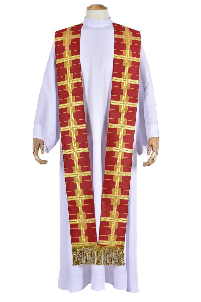 São Geraldo Magela Medalha Cruz Priestly Stole ES148