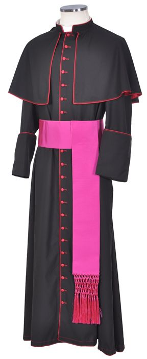 Batina Bispo Lã Fria Italiana Preta