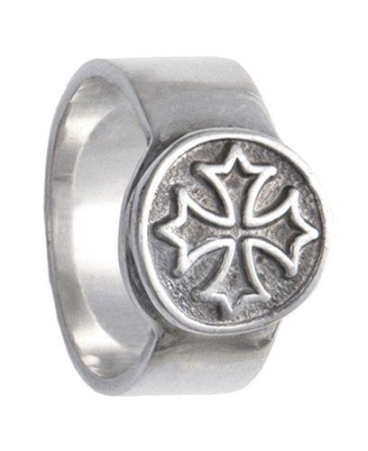 Anel de Prata artesanal com Cruz Gótica A1014