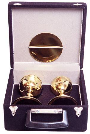 Estojo com Cálice e Âmbula Dourado Total 450