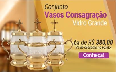 Conjunto Vasos Consagração Vidro Grande