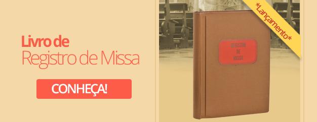 livro de registro de missas
