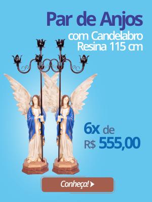 Par de Anjos com candelabro