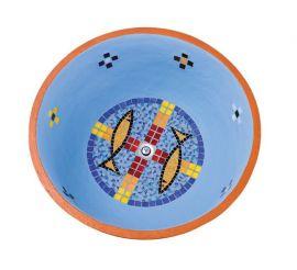 Pia Batismal Mosaico Peixe 4089