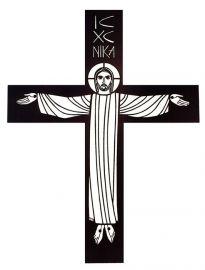 Crucifixo de Parede Vazado Ferro MM1F 120cm