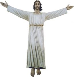 Imagem Cristo Ressuscitado Fibra 180cm 4206 Tunica