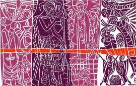 Painel Litúrgico Advento 90 x 140cm