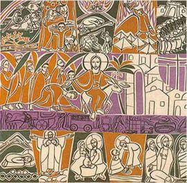 Painel Litúrgico Quaresma 130 x 130cm