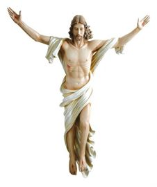 Imagem Cristo Ressuscitado Fibra 4156 100cm