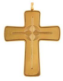 Cruz Peitoral Prata Dourada C5