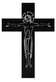 Crucifixo de Parede Vazado Ferro FA1F 119cm