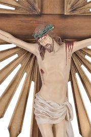 Crucifixo de Parede Ornado Resina 140cm