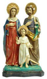 Imagem Sagrada Família Resina com Auréola 55cm