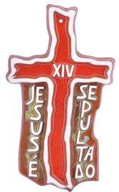 Via-Sacra Cruz Frase Cerâmica 28x16cm 2085