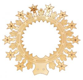 Auréola com Estrelas e Leds Vermelhos 27cm 8210