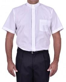 Camisa Clerical Romana Manga Curta