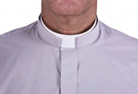 Camisa Clerical Romana Manga Longa