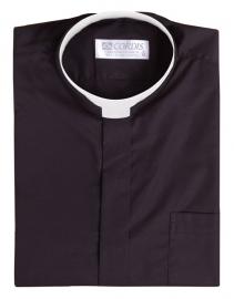 Camisa Clerical Romana Manga Longa Preta CT168