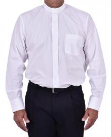 Camisa Clerical Tradicional Manga Longa Branca CT068