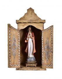Capela para Imagens Moldura Bordada 67cm