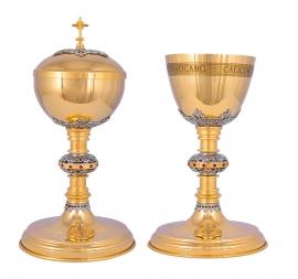 Conjunto Âmbula e Cálice Dourado 710/1
