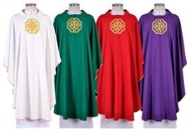 Conjunto Casula Igreja Santa CS075 com 4 cores