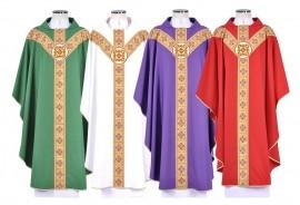 Conjunto Casula Père Jacques Hamel Presidente CS062 com 4 cores