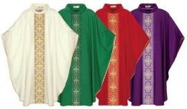 Conjunto Casula Veneza Alfa e Ômega CS038 com 4 cores