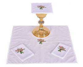 Conjunto de Altar Algodão Trigo Cruz e Uva B007