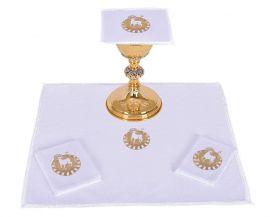 Conjunto de Altar Jacquard Cordeiro B014