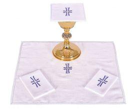 Conjunto de Altar Linho Cruz B011