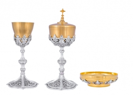 Conjunto 1100 Cálice, Âmbula com Patena Consagração 16,5 cm